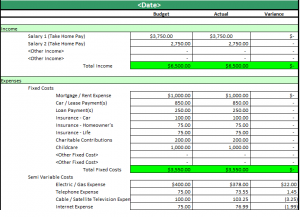 practicalspreadsheets monthly household budget