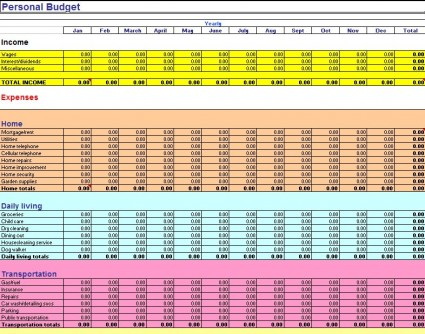 Household Budget Worksheet Excel Template Rringband – Budget Spreadsheet Excel